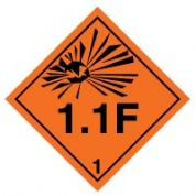Hazard safety sign - Explosive 1.1F 017